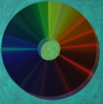 2020 The Spectral Wheel of Colors: The Moon (Nighttime Photo Glowing)